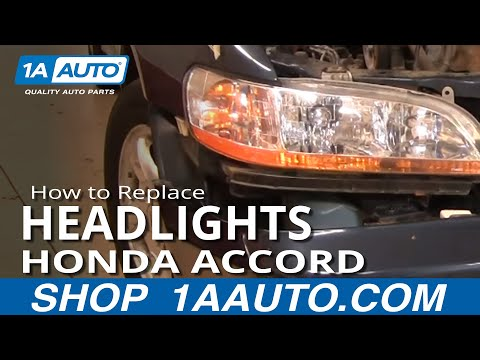 How To Install Repair Replace Broken Headlight or Bulb Honda Accord 98-02 1AAuto.com