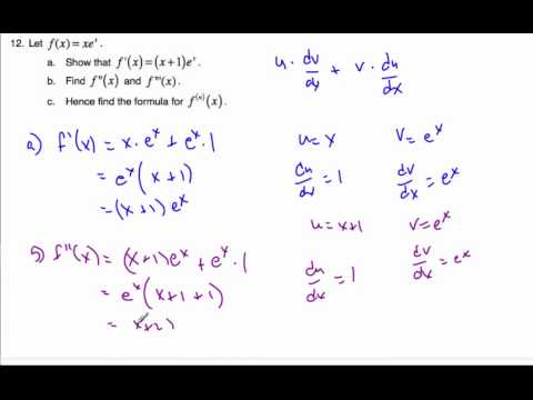 IB Math SL - finding the nth derivative