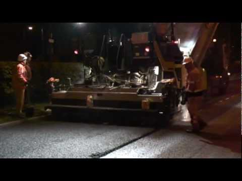 Volvo ABG6870 Paver - Night Time Road Resurfacing With Derek Lewis Ltd