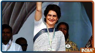 PM Modi के गढ़ में Priyanka Gandhi का ज़बरदस्त स्वागत, गूंजे प्रियंका गांधी ज़िंदाबाद के नारे ! - INDIATV