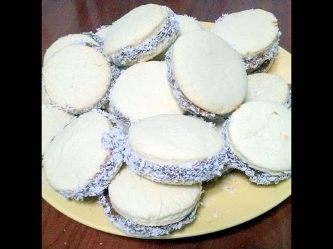 RECETA: COMO HACER ALFAJORES DE MAICENA CON DULCE DE LECHE  ( CAKES AND SWEET MILK cornstarch)