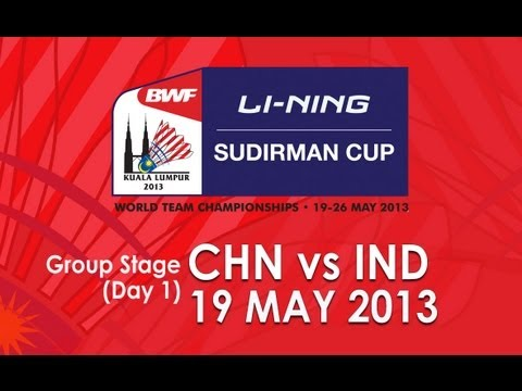 Group Stage - MD-  Liu X./Qiu Z. vs D. Akshay/C.P. Jerry - 2013 Sudirman Cup