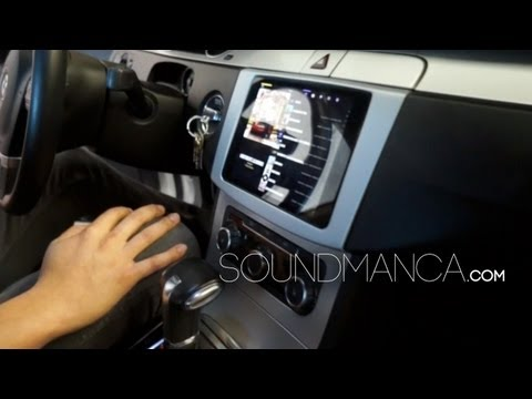 iPad mini car dash install in a 2010 VW CC, soundman float mount wireless @soundmanca
