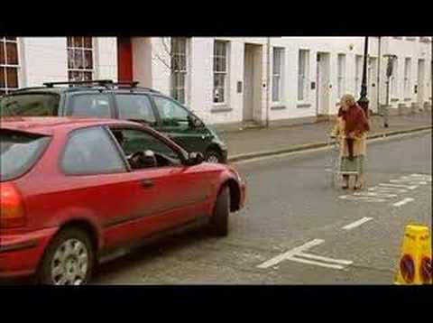 Hidden camera - Old Women Crossing