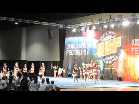 Cheer Express Senior 2 Red - WSF Tampa 12/7/13