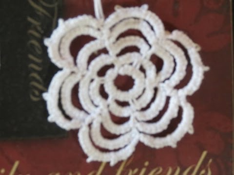 needle tatting Rosette