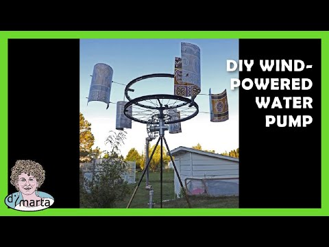 DIY Wind-Powered Water Pump. Cata-Vento com Bomba de Agua.