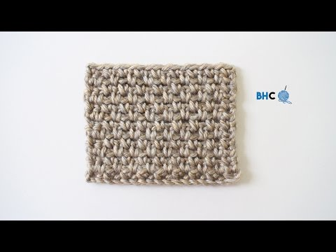 How to Crochet the Moss Stitch Left Handed (Granite Stitch & Linen Stitch)