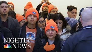 Protests At The Capitol As Government Shutdown Looms | NBC Nightly News - NBCNEWS