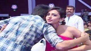 Ram Tight Hug To Rakul Preet Singh At Pandaga Chesko Audio Launch LIVE - ADITYAMUSIC