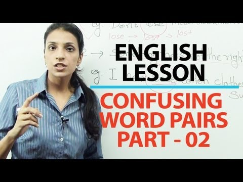 English Grammar Lessons - English Grammar Lesson : Commonly confused word pairs part 02 | Free English lessons ( ESL ) -zH4g8qzzyqU