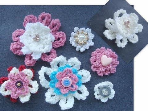 How to Crochet a Beginner Flower.