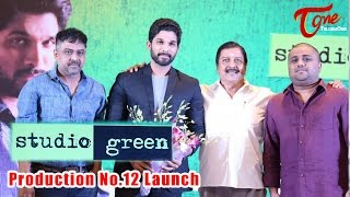 Allu Arjun at Studio Green Production No 12 Launch #Allu Arjun - TELUGUONE