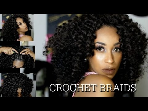 HOW TO CROCHET BRAIDS FOR BEGINNERS! STEP BY STEP TUTORIAL USING JAMACIAN BOUNCE PRE CURLED HAIR
