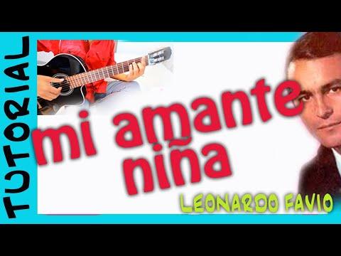 Mi amante niña -  Leonardo Favio - Como tocar Guitarra acordes