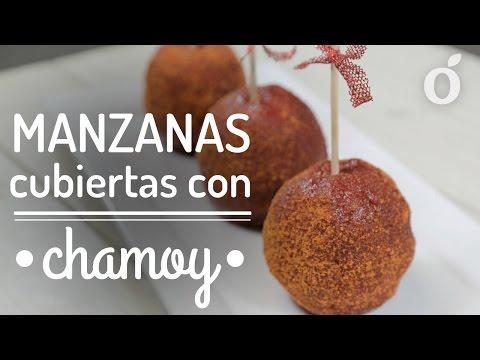 MANZANAS CUBIERTAS CON CHAMOY | Kiwilimón
