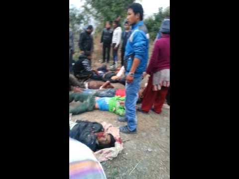 Trackter accident at bhalu chowk panchthar