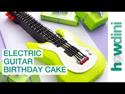 How to make a guitar cake Electric guitar birthday cake