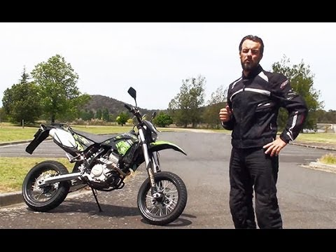 Shineray 250 Motard with Cam Donald