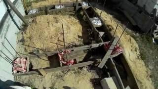 Фундамент гаража и тамбура, часть 1