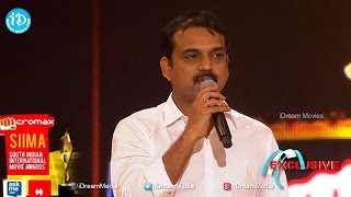 SIIMA 2014 Best Debutant Producer Telugu || UV Creations || Mirchi Movie - IDREAMMOVIES