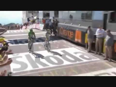 Hushovd vs Cavendish on mount ventoux