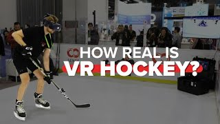 This VR ice hockey setup felt almost like the real thing - CNETTV