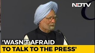 I Wasn't Afraid Of Talking To Press: Manmohan Singh's Jibe At PM Modi - NDTV
