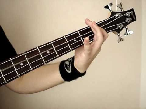 Mike Dirnt (Green Day) bass line (E-flat tuning) demo on Ibanez GSR200