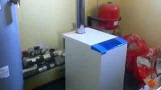 Отопление видео №1  Газовый напольный котел Термона, Система отопления, Топочная, Обвязка котла
