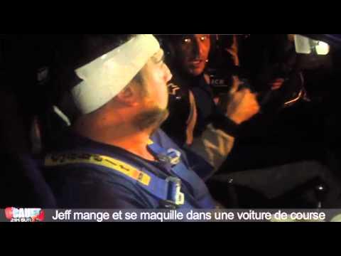 Jeff mange et se maquille dans une voiture de course - C'Cauet sur NRJ