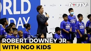 Robert Downey Jr Takes 'The Avengers' Oath With NGO Kids - NDTV