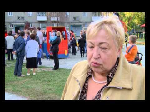 Новости Верхней Пышмы - Открытие детской площадки, 25.09.12