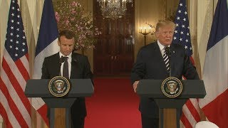 President Donald Trump, French Pres. Macron hold joint press conference | ABC News - ABCNEWS