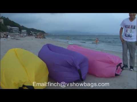 Inflatable Folding Sleeping Lazy Bag for Outdoor Camping - vshowbags.com