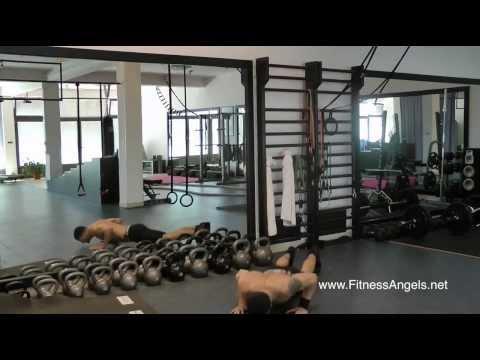 Napredni trening bez pauze sa bučicama: rutina 1