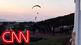 Trump protester breaches security airspace - CNN