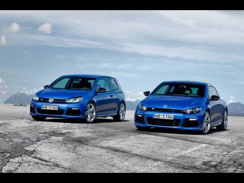 VW Golf R & Scirocco R on-track