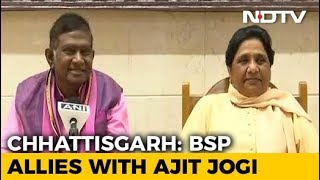 Mayawati With Ajit Jogi For Chhattisgarh Polls, Stung Congress To Go Solo - NDTV