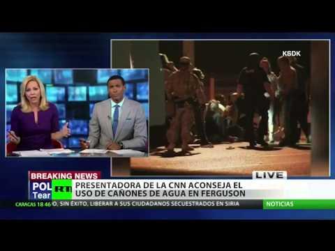 Una presentadora de CNN sugiere el uso de cañones de agua en Ferguson