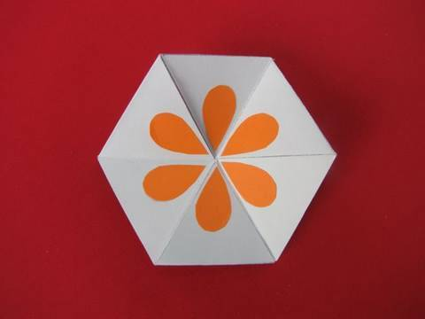 Gioco carta esagonale how to make a flexagon