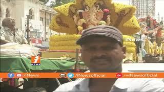 Ganesh Nimajjanam 2018 | Ganesh Idols Shobha Yatra Passing at Charminar | Hyderabad | iNews - INEWS