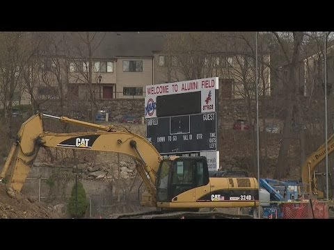 Demolition at Fairfield University