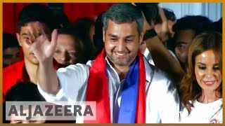 🇵🇾 Mario Abdo Benitez elected as Paraguay's president | Al Jazeera English - ALJAZEERAENGLISH