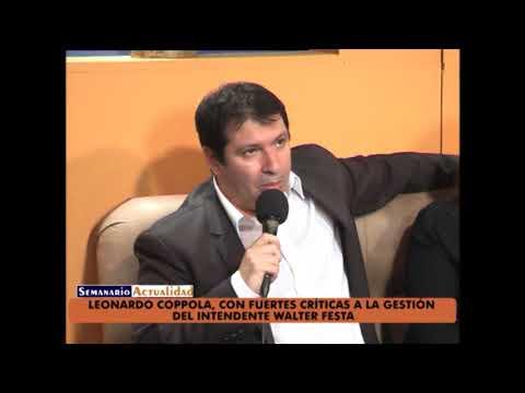 Leonardo Coppola, con fuertes críticas a la gestión del intendente Walter Festa