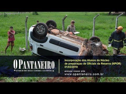 Em capotamento, airbag salva motorista da morte em Aquidauana