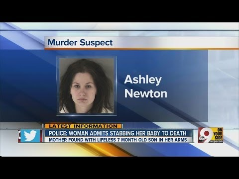 Police say a woman has admitted to stabbing her baby to death
