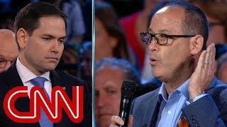 Father challenges Marco Rubio on guns - CNN