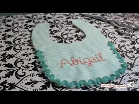 Embroidered Baby Bib Tutorial