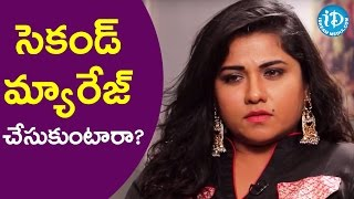 Jyothi About Her Opinion On Second Marriage || Talking Movies With iDream - IDREAMMOVIES